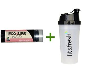 Eco Lips Inc., Ecotints, Lip Moisturizer, Rose Quartz, .15 oz (4.25 g), (5 PACK), Vitaminder, Power Shaker Bottle, 20 oz Bottle