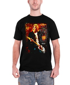 Kurt Cobain T Shirt You Know Youre Right Nirvana Official Mens Black