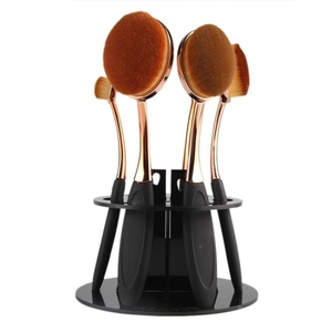 Makeup Brush Drying Rack, Mostsola 6 Hole Oval Makeup Brush Holder Drying Rack Organizer Cosmetic Shelf Tool