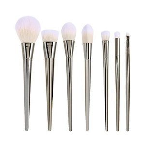 Tinabless 7pcs Professional Make Up Brushes Sets Cosmetics Makeup Brush Kits (Silver) by Tinabless