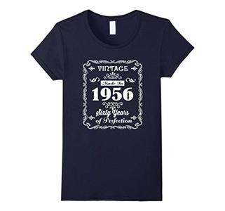 Women's 60th birthday Gift Idea 60 Year Old Boy Girl Shirt 1956 XL Navy