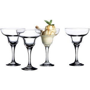 Style Setter Ambassador Margarita Glasses, Set of 4, Dishwasher-Safe