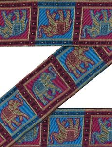 Vintage Indian Sari Border Used 1YD Woven Women Art Multicolor Trim Ribbon Lace