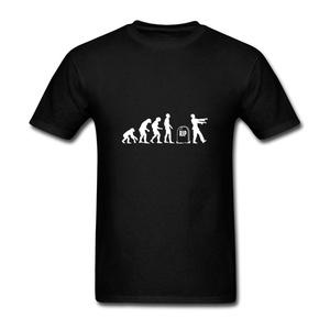 ZhiBo Men's Funny Anthropoid Monkey Ape Evolution Rip Zombie Customized T-shirt Black Small Man