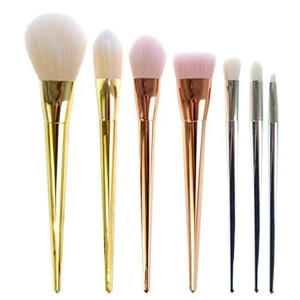 Tmalltide 7 Pcs Makeup Brush Set Premium Synthetic Kabuki Cosmetics Foundation Blending Blush Eyeliner Face Powder Brush Makeup Brush Kit (Multi Color)