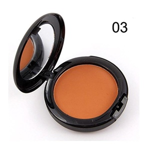 Banggood Waterproof Pressed Powder Concealer Foundation Dark Skin Types Women Makeup Palette One Color 03#