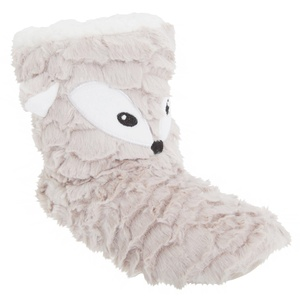 Womens/Ladies Animal Design Faux Fur Slipper Boots (9-10 US) (Beige (Fox Design))