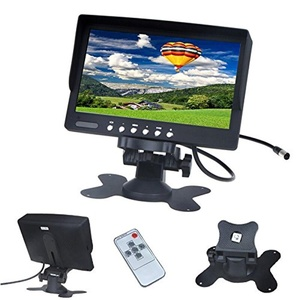 BonAchat 7 Inch LCD 16:9 Color Display Car Rearview Monitor 2 AV Input 800 x 480 Monitor Screen PAL&NTSC for Car Backup Camera With Remote Controle