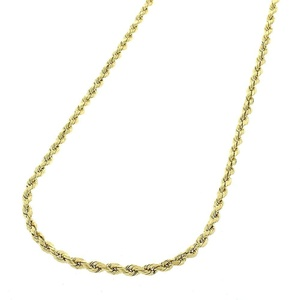14k Yellow Gold Mens Womens 1mm Solid Rope Cable Chain Necklace 16