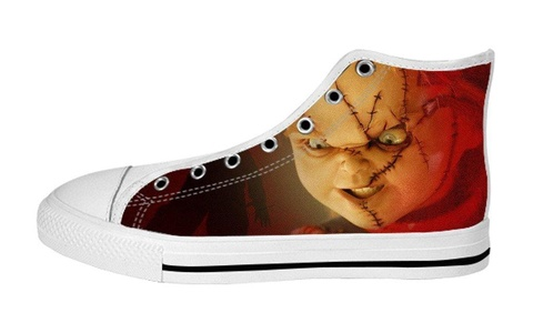 Classic Women's Curse of Chucky Canvs Shoes High Top Fashion Sneaker