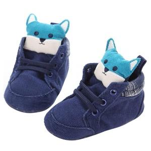 Inkach Newborn Baby Kids Cartoon Prewalker Shoelace Toddler Non-slip Soft Sole Shoes (1, Blue)