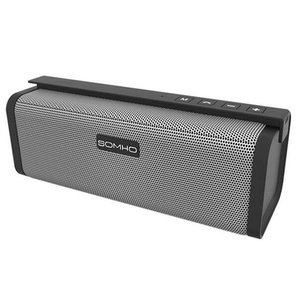 Mini Bluetooth Speakers, HLS S311 10W Dual-Driver Portable Wireless Stereo Outdoor Speaker with FM Radio, Micro SD Card and Built-in Mic for Calls, for iPhone iPad and Other Bluetooth Devices - Grey