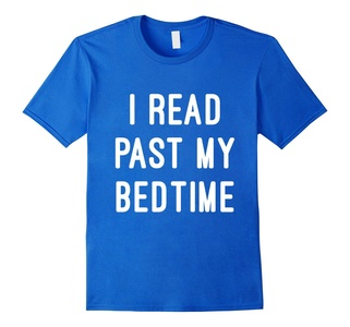Men's I Read Past My Bedtime Gift T-Shirt XL Royal Blue