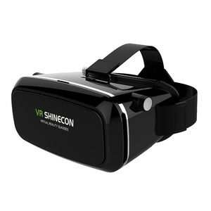 VR SHINECON Virtual Reality Glasses Headset for 3D Videos Movies Games Compatible with Most 3.5