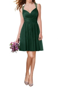 MILANO BRIDE Inexpensive Bridesmaid Dress Pageant Gown Sweetheart Floor-Length-22W-Dark Green(short)