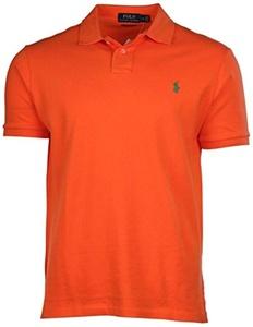 Polo Ralph Lauren Custom Fit Mesh Polo Shirt for Men orange XL