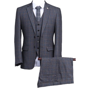 GEORGE BRIDE Men's Two Button Stretch Performance Solid Suits,Custom size