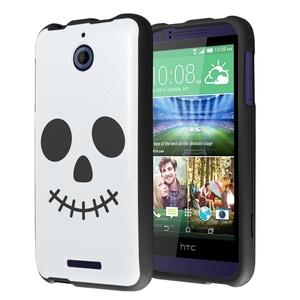 HTC Desire 510 Case, Capsule-Case Slim Fit Snap-on Black Hard Case for HTC Desire 510 - (Halloween Skull)