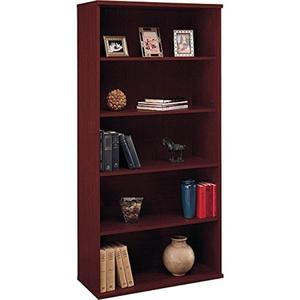 Corsa 5-shelf Double Bookcase - Kathy Ireland WC36714
