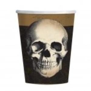 Amscan Boneyard Paper Party Cups x 8