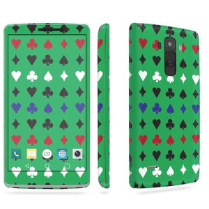 LG [G Stylo] Phone Skin - [SkinGuardz] Full Body Scratch Proof Vinyl Decal Sticker with [WallPaper] - [Casino-Green] for LG [G Stylo] [LS770 H631]