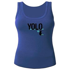 YOLO Cat for Women Printed Tanks Tops Sleeveless T-shirt