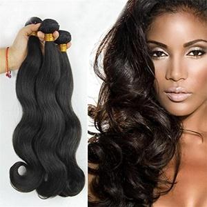 100% Virgin Remy Brazilian Human Hair Extensions BODY WAVE 3-Pack Bundle, 300g Total (100g each), Grade AAAAAA (28
