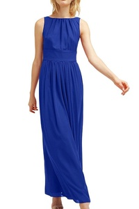 MILANO BRIDE 2016 Bridesmaid Dress Prom Dance Dress Sleeveless A-line Chiffon-4-Royal Blue