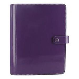Filofax(R) Original Organizer With 2-Page Planner, 8 1/4in. x 5 3/4in., Patent Purple