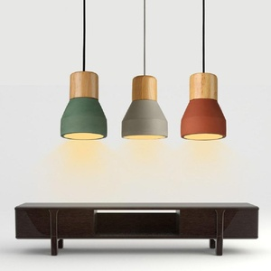 Continental Simple modern creative single head cement chandeliers and retro industrial wind restaurant aisle lights Pendant Lights