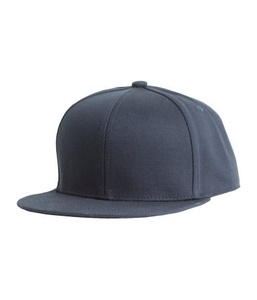 Dark Blue Cotton-Blend Embroidered Cap