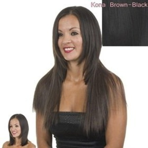 21 Black Silky Straight Clip In Hair Extensions | Kona Black One Piece Clip in Hair Weft by Hair Extensions By MissTresses