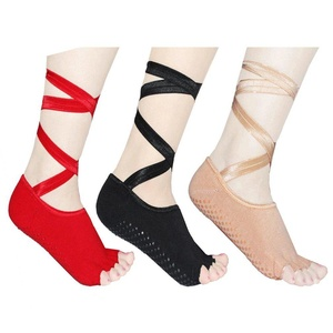 No Show Socks for Women 3 Pairs Comfortable and Breathable Yaga Half Toe Cotton Socks