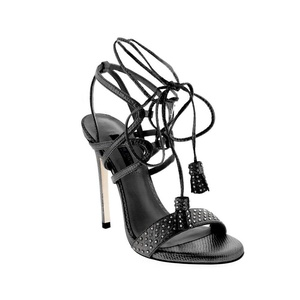 Ruthie Davis Black Ankle Strap Stud Sandal