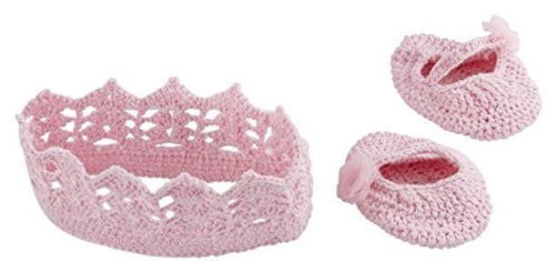 Baby Aspen Little Princess Knit Headband and Booties Gift Set by Baby Aspen