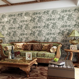 SBWYLT-Pure landscapes on paper wallpapers bedroom living room walls green non-woven stripe wallpaper , 10 meters *0.53 meters