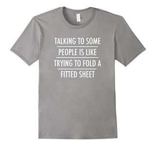 Men's Talking People - Fitted Sheet T-shirt XL Slate