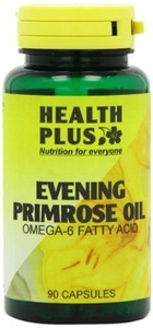 Health Plus Evening Primrose Oil 500mg Omega-6 Supplement - 90 Capsules by Health Plus