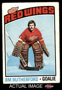 1976 O-Pee-Chee NHL # 88 Jim Rutherford Detroit Red Wings (Hockey Card) Dean's Cards 3 - VG