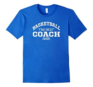 Men's Basketball Coach Shirt The Best Ever Large Royal Blue