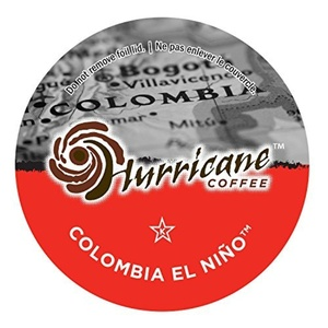 Hurricane Coffee and Tea Colombia El Nino Coffee Single-Cup Coffee, 24 Count by Hurricane Coffee and Tea