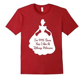 Men's 99 Sure I am a Princess T-Shirt 2XL Cranberry