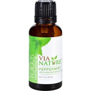 2Pack! Via Nature Essential Oil - 100 Percent Pure - Peppermint - Single - 1 fl oz