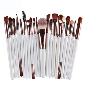 Anboo 20 pcs Makeup Brush Set tools Toiletry Kit Wool Cosmetic Powder Brush Contour High-light Eyebrow Eyeshadow (White)