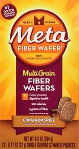Metamucil MultiGrain Fiber Wafers Cinnamon Spice -- 12 Packets by Metamucil