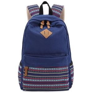 LMCenlife Casual Lightweight Canvas Laptop Bag Cute School Backpack Travel Bag (Color 5)