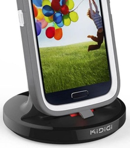 KiDiGi RUGGED CASE CHARGER SYNC CRADLE DOCKING STATION FOR SAMSUNG GALAXY S4