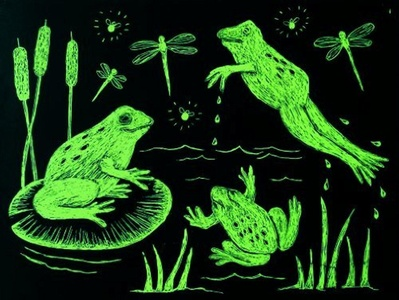 Melissa & Doug Scratch-Art Paper, Green by Scratch Art