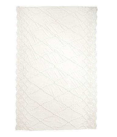 Hm 100% Nylon Lace Tablecloth