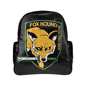Foxhound Unisex Pu Leather Computer Laptop Backpack, Travel Bag Hiking Knapsack,School College Student Backpacks Shoulder Bags For Women/Girls,Men/Boys